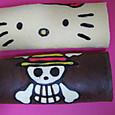 神様のロールケーキ ⑩ワンピース海賊旗とキティちゃん